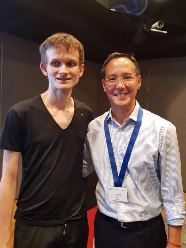 Founder of Diamundi Hogi Hyun and Vitaly Buterin